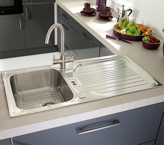 Additional image of Astracast Montreux 1.0 Bowl Brushed Stainless Steel Inset Sink Pack