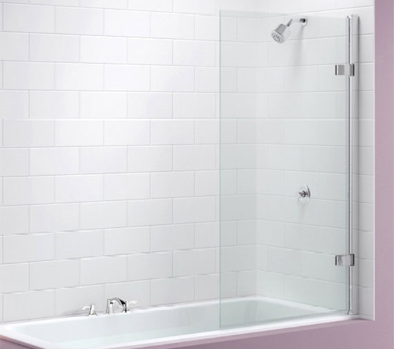 Merlyn Ionic Hinged Square Bath Screen 850 x 1500mm - MB6