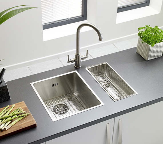 Additional image of Astracast Onyx 4034 Medium Bowl Brushed Stainless Steel Flush Inset Sink