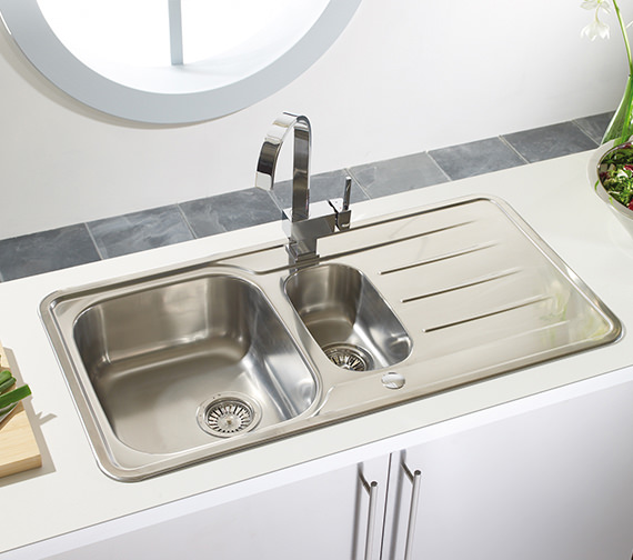 Additional image of Astracast Topaz 1.5 Bowl Polished Stainless Steel Inset Sink And Tap Pack