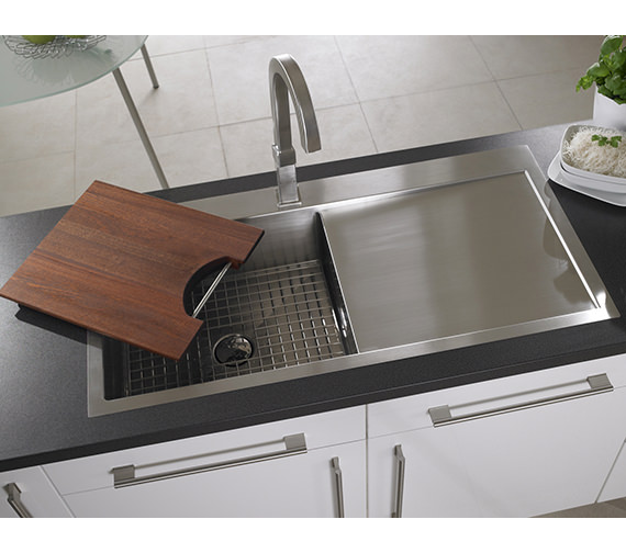 Alternate image of Astracast Vantage 1.0 Bowl Stainless Steel Inset Sink And Accessory