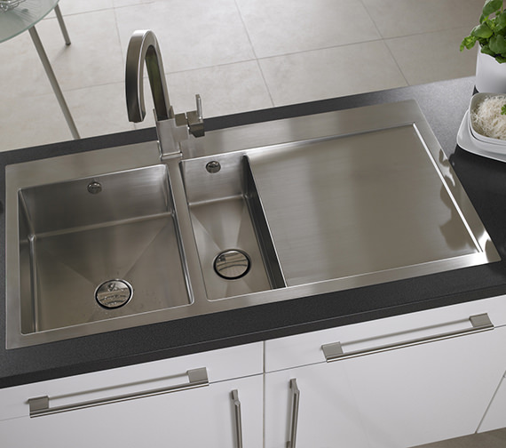 Additional image of Astracast Vantage 1.5 Bowl Stainless Steel Inset Sink And Accessory