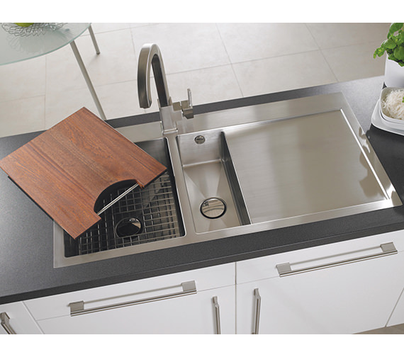 Alternate image of Astracast Vantage 1.5 Bowl Brushed Stainless Steel Inset Sink And Tap Pack