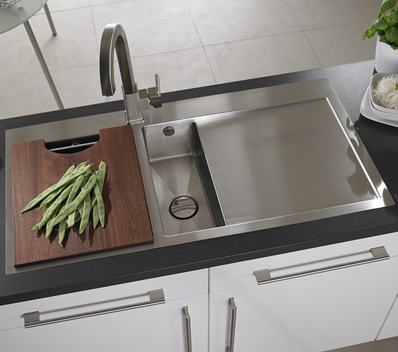 Alternate image of Astracast Vantage 1.5 Bowl Stainless Steel Inset Sink And Accessory