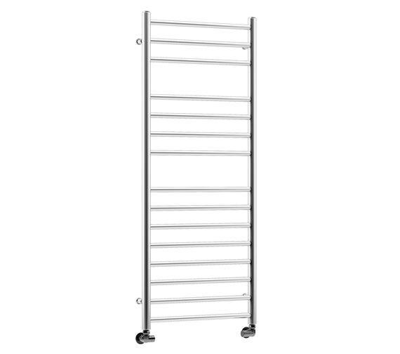 DQ Heating Siena Polished Stainless Steel Heated Towel Rail 350 x 700mm