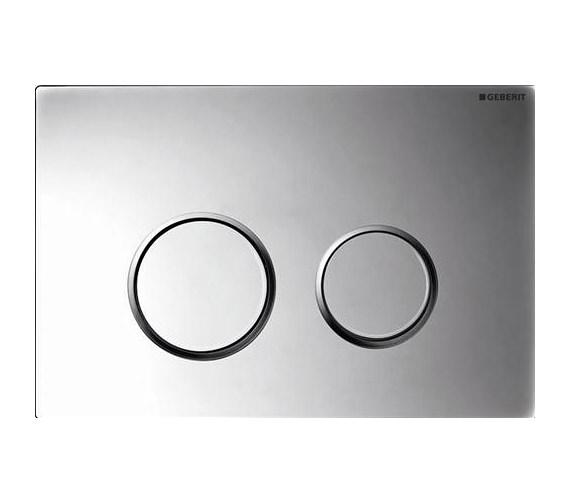 Geberit Sigma20 Plastic Dual Flush Plate Gloss Matt Chrome - 115.882.KH.1