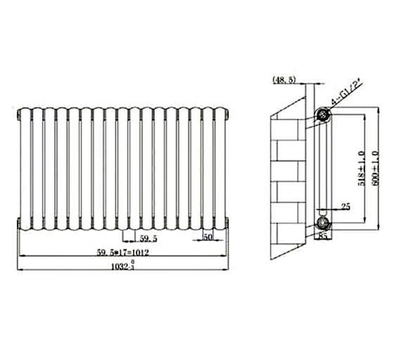 Technical drawing QS-V75928 / RA143