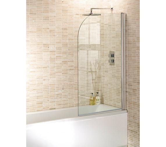 Aquadart round edge bath screen 1400 x 800mm aq6001 for Small baths 1400