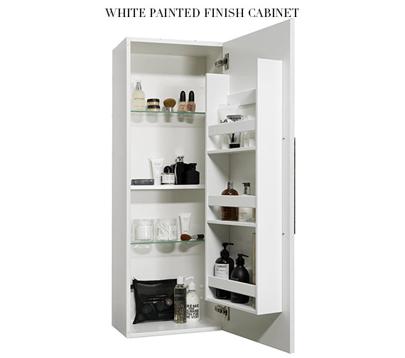 Additional image of Miller New York Black Single Storage Door Tall Cabinet 400 x 1690mm