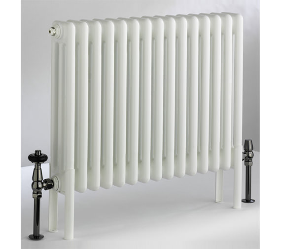 DQ Heating Peta White 4 Column Radiator - 292mm High