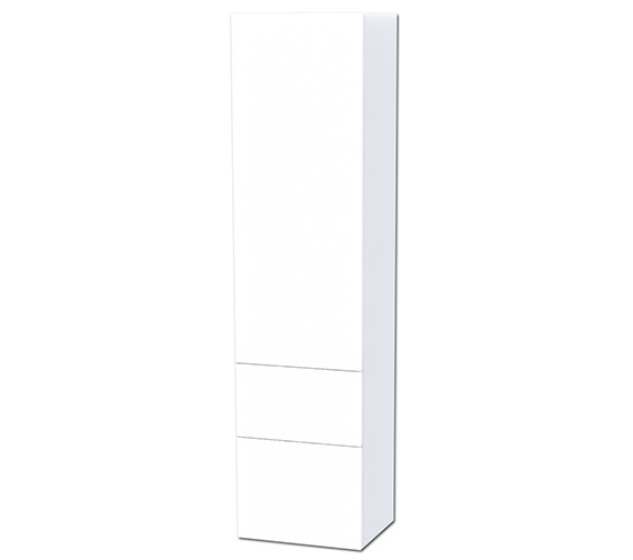 Miller New York White 1 Door And 2 Drawer Tall Cabinet 400 x 1690mm