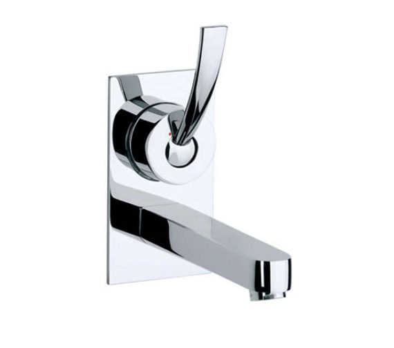 Roca Moai Wall Mounted Basin Mixer Tap On Chrome Plate - 5A4746C00