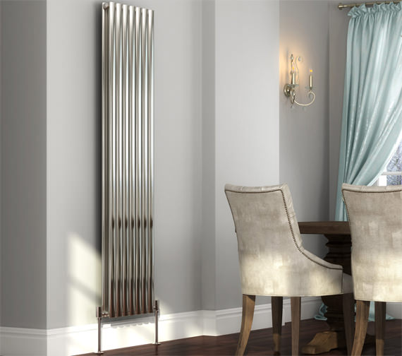 Additional image of DQ Heating Cove 413 x 1800mm Stainless Steel Double Vertical Radiator