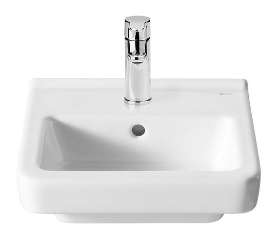 Roca Dama-N Compact Wall Hung Basin With 1 Tap Hole