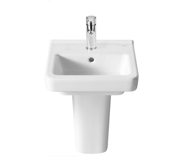 Additional image of Roca Dama-N Compact Wall Hung Basin With 1 Tap Hole