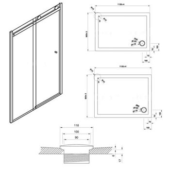 Technical drawing QS-V42196 / CSLSC1400