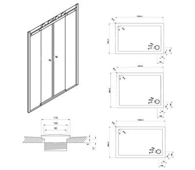 Technical drawing QS-V42200 / CDLSC1400