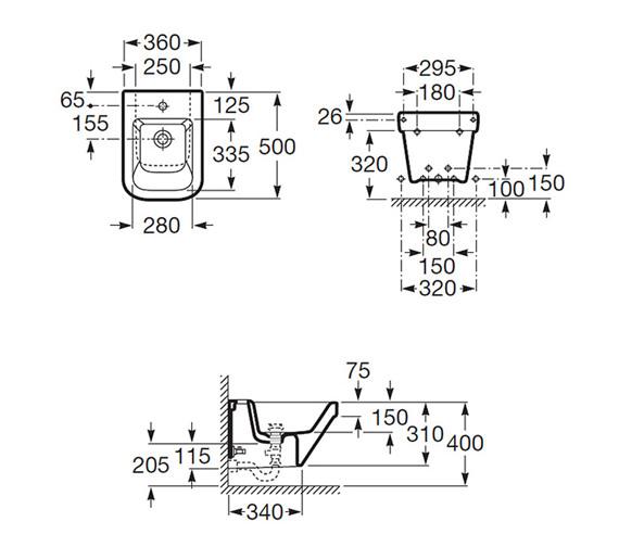 Technical drawing QS-V25285 / 357786000