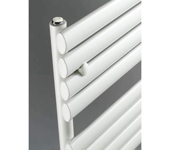 Additional image of DQ Heating Cove TR 500 x 1180mm Oval Tube Heated Towel Rail - White