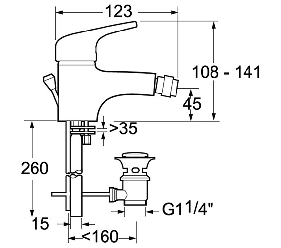 Technical drawing QS-V71483 / LACE114