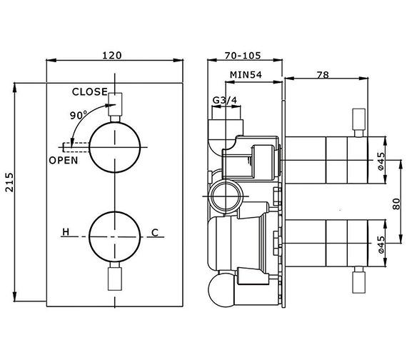 Technical drawing QS-V38176 / DE1000RC