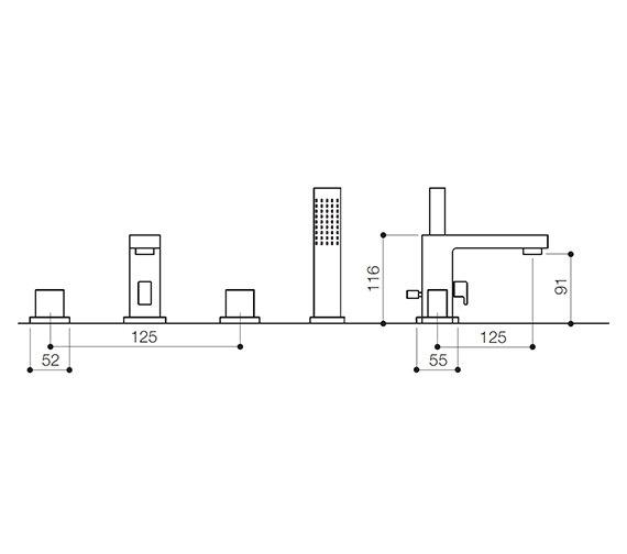 Technical drawing QS-V30097 / BLX047