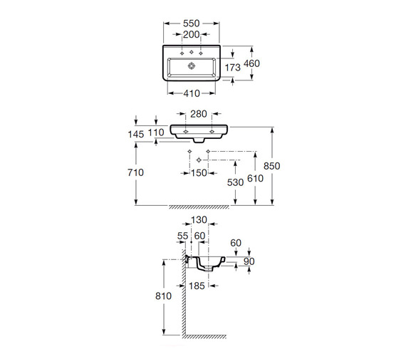 Technical drawing QS-V25268 / 327786000