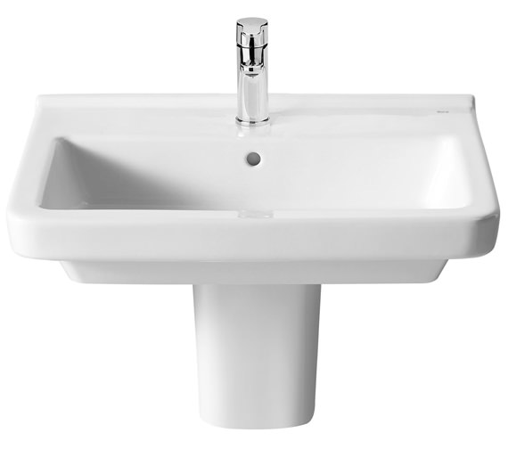 Additional image of Roca Dama N Vitreous China Wall-Hung Basin With 1 Tap Hole
