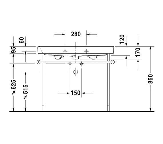 Alternate image of Duravit Happy D2 1200 x 505mm Furniture Washbasin