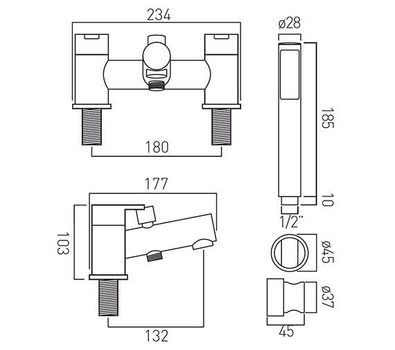 Technical drawing QS-V37142 / SEN-130+K-C/P