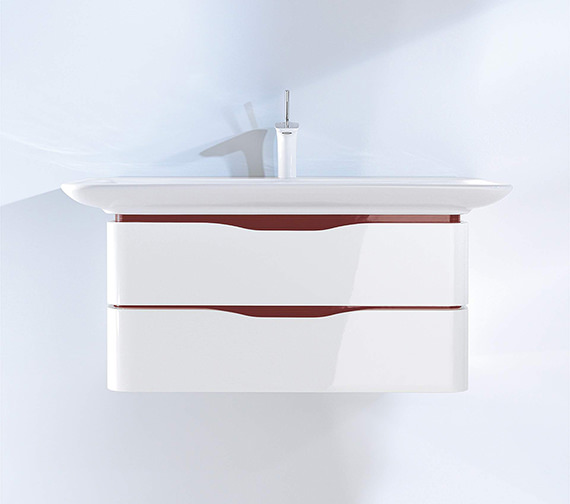 Duravit Puravida 800mm Double Drawer Vanity Unit And 1000 Basin