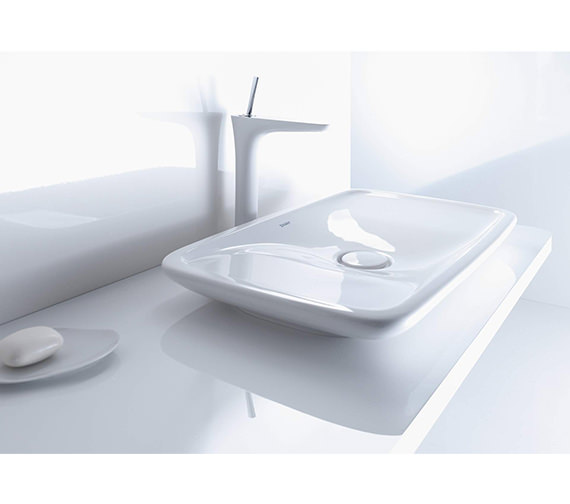 Additional image of Duravit PuraVida 700 x 420mm Ground Wash Bowl