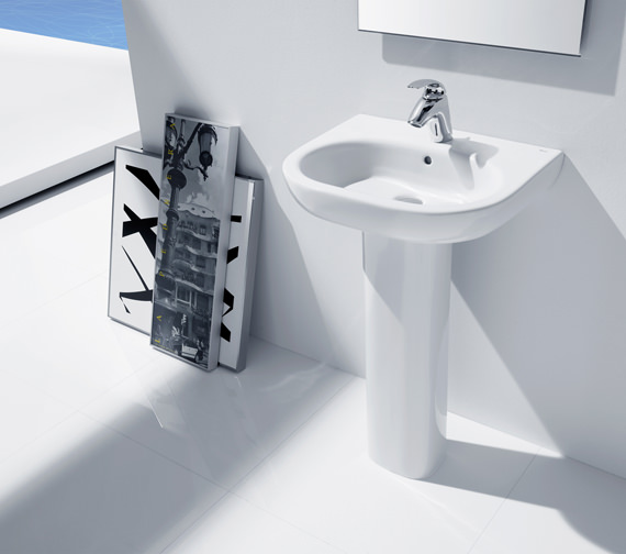 Additional image of Roca Meridian-N Wall Hung Basin 600 x 460mm - 327242000