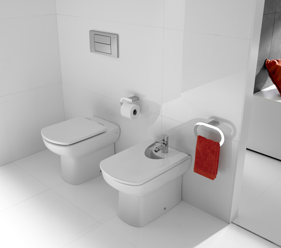 Additional image of Roca Senso Back To Wall Bidet With One Tap Hole 570mm - 357517000