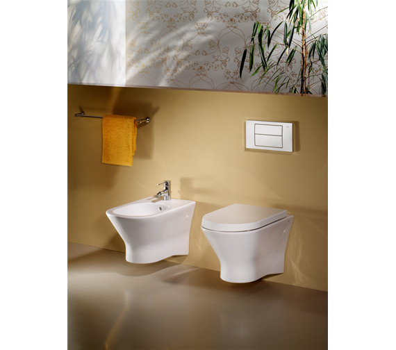 Additional image of Roca Nexo Wall Hung Over-Rim Bidet 525mm - 357645000