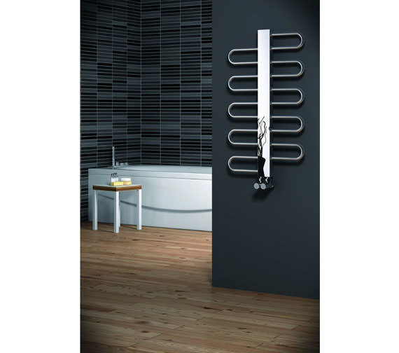 Alternate image of Reina Dynamic Designer Radiator 500mm x 890mm Satin