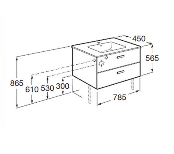 Technical drawing QS-V55750 / 855750806