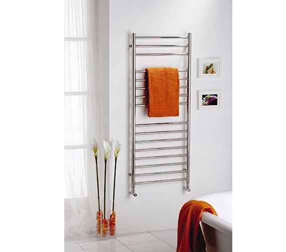 Alternate image of Reina Diva Flat Towel Rail 600 x 1000mm Chrome Finish - DIVA6100