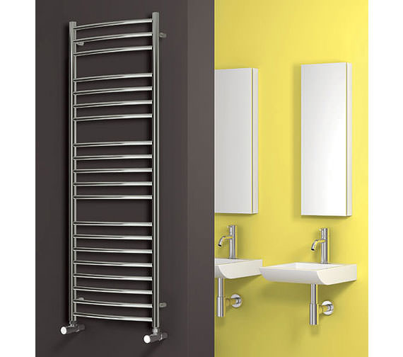 Alternate image of Reina Diva Chrome Curved Towel Rail 400 x 800mm - DIVA4080
