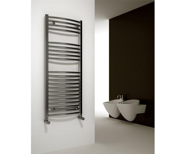 Alternate image of Reina Diva Chrome Curved Towel Rail 500 x 800mm - DIVA5080