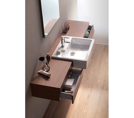 Fogo Console With Drawer For Semi Recessed Washbasin 1600mm FO8385
