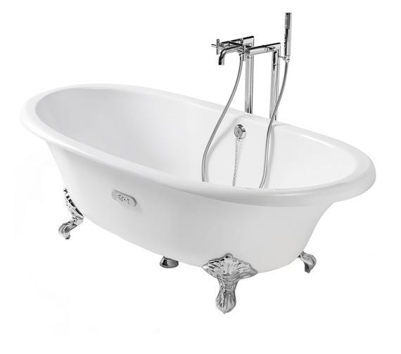 Eliptico Free Standing Cast Iron Bath 1700 x 850mm White - 233650007