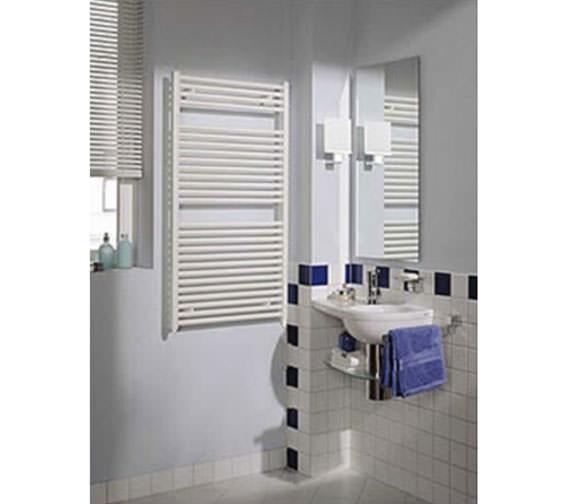 Alternate image of Reina Diva Flat Heated Towel Rail 400 x 1800mm White