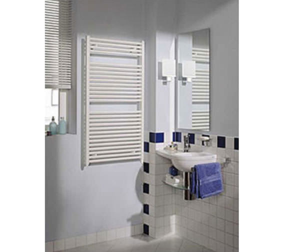 Alternate image of Reina Diva Flat Heated Towel Rail 500 x 1800mm White