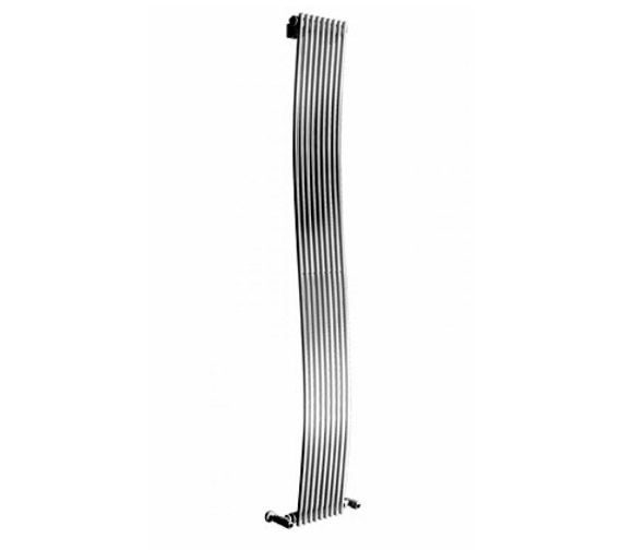 Apollo Rimini Wave 1800mm Height Tube On Tube Vertical Radiator Chrome - More Width Sizes Available
