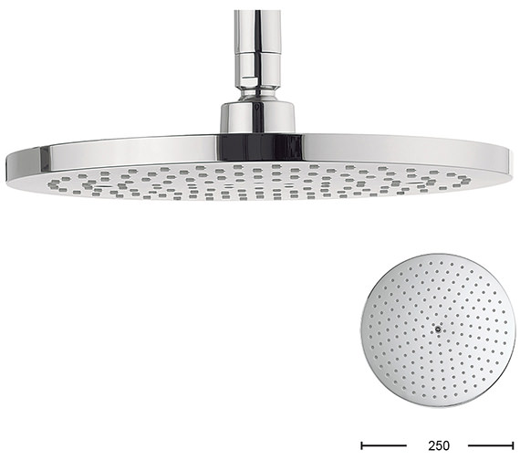 Alternate image of Crosswater Central 200mm Brass Round Shower Head