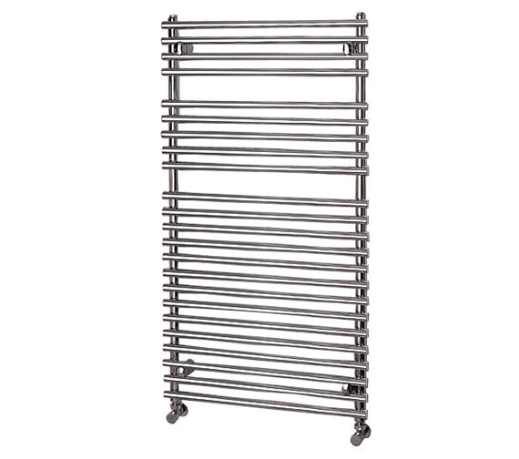 Apollo Pavia Tube-on-Tube White Towel Warmer 500 x 1200mm