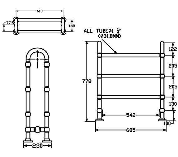 Technical drawing QS-V24372 / AHC77