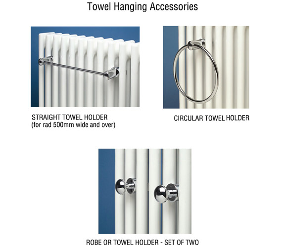 Alternate image of Apollo Pavia 600mm Wide Tube-on-Tube Chrome Towel Warmer