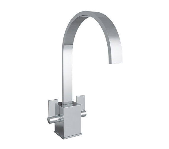 Abode Contemporary Atik Chrome Monobloc Kitchen Mixer Tap